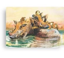 Happy in the water Canvas Print