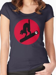 413th Bomb Squadron Emblem Women's Fitted Scoop T-Shirt