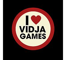 I love video games Photographic Print