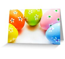 Colorful Easter Eggs Greeting Card