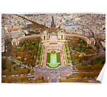 Paris Miniature (Tilt Shift) Poster