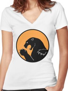 338th Fighter Squadron Emblem  Women's Fitted V-Neck T-Shirt