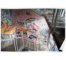 graffiti stairs Poster