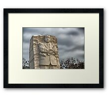 MLK Memorial after snowstorm Framed Print