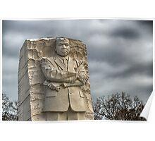 MLK Memorial after snowstorm Poster