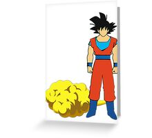 Goku and his cloud fanart Greeting Card