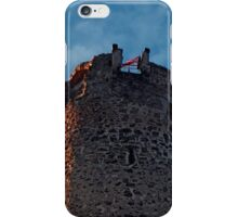 The tower of Waxenberg castle in the sunset | architectural photography iPhone Case/Skin