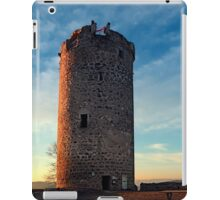 The tower of Waxenberg castle in the sunset | architectural photography iPad Case/Skin