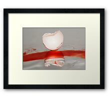 Broken eggshell abstract Framed Print