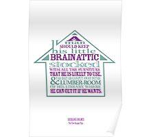 Sherlock Holmes novel quote – brain attic Poster