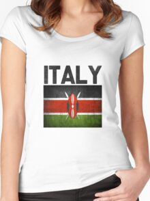 Italy Women's Fitted Scoop T-Shirt