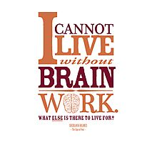 Sherlock Holmes novel quote – brain work Photographic Print