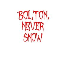 Bolton Never Snow Photographic Print