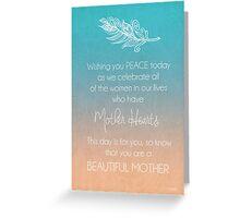 Beautiful Mother Greeting Card