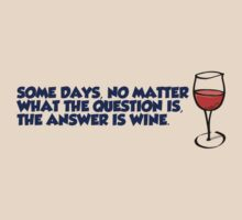 Some days, no matter what the question is, the answer is wine by digerati