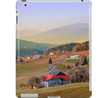Country road in amazing panorama | landscape photography iPad Case/Skin