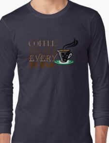 Coffee solves everything Long Sleeve T-Shirt