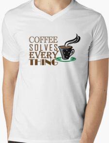 Coffee solves everything Mens V-Neck T-Shirt