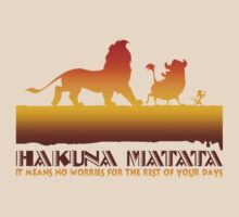 Hakuna Matata It Means No Worries! by rockinbass85