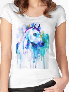Arabian horse Women's Fitted Scoop T-Shirt