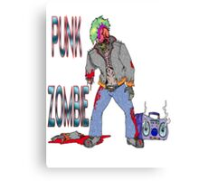 Punk Zombie Canvas Print