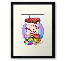 Cake lady Framed Print