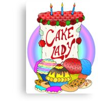 Cake lady Canvas Print