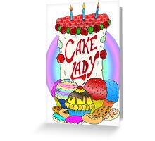 Cake lady Greeting Card