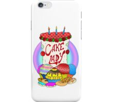 Cake lady iPhone Case/Skin