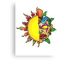 Tiki Sun Canvas Print