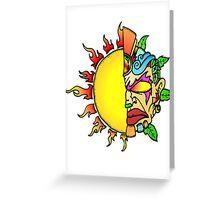 Tiki Sun Greeting Card