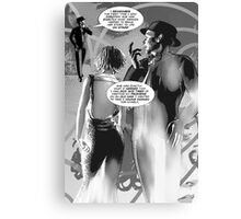 Faith Fallon Graphic Novel Page © Steven Pennella Canvas Print