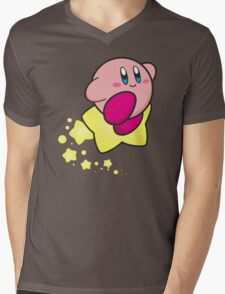 Ride on Kirby Mens V-Neck T-Shirt