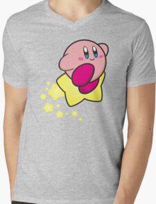 Ride on Kirby Mens V-Neck T-Shirt