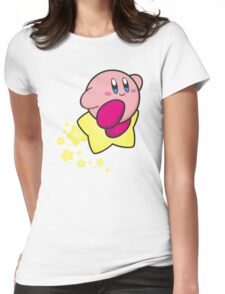 Ride on Kirby Womens Fitted T-Shirt