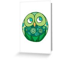 Curiouser Owl Greeting Card
