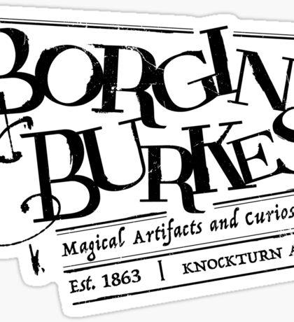 Borgin & Burkes (in black) Sticker
