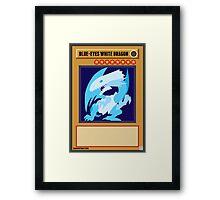Blue-Eyes White Dragon Framed Print