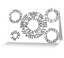 Biscuits Circle Greeting Card