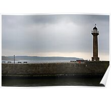 whitby light house Poster