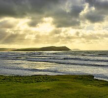 Polzeath Sunrays by Chris Thaxter