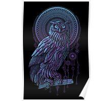 Owl Nouveau Poster