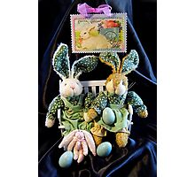 Green Bunnies For Easter Photographic Print