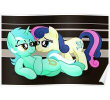 Lyra and Bonbon Phone Case Poster
