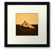 Paper Airplanes of Wood 2 Framed Print