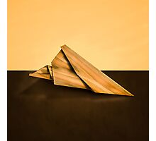 Paper Airplanes of Wood 2 Photographic Print