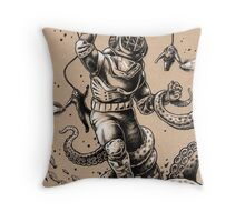 Danger Dive Throw Pillow