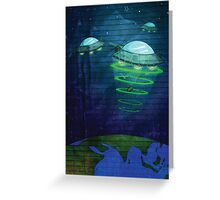 UFO - notepad style Greeting Card