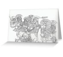 Greek Warriors Greeting Card