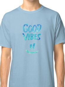 Good Vibes - Funny Smiley Statement / Happy Face (Blue Stars Edit) Classic T-Shirt